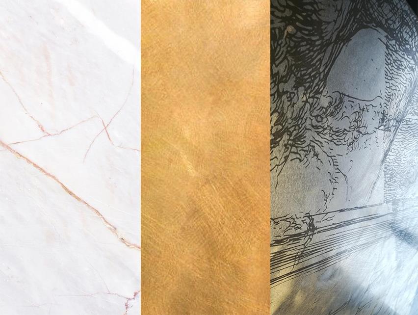 finiture per la refrigerazione professionale marmo ottone oxiglu